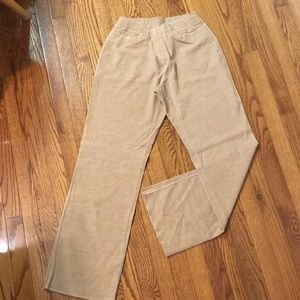 Tan thin corduroy pants size 8